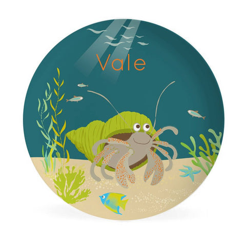 KIDS PLATE - Personalized Hermit Crab
