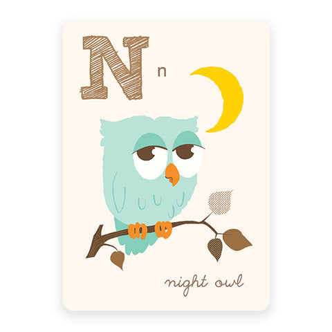 Night Owl | ABC Card