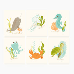 Ocean Friends Print Set