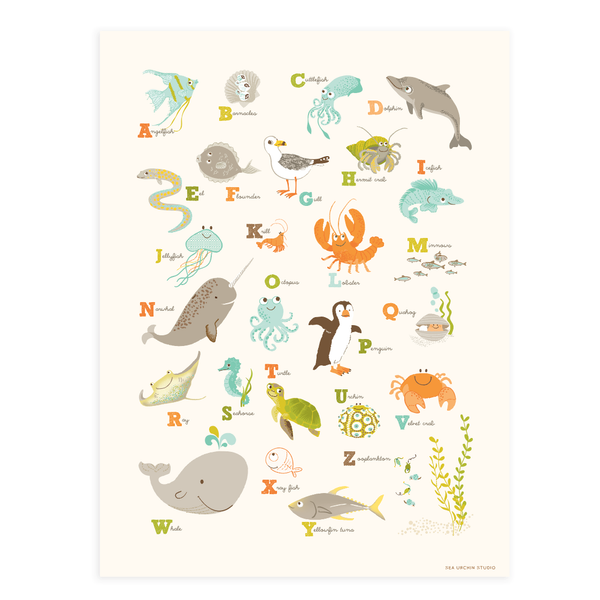 Sea & Shore Alphabet Wall Art