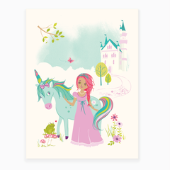 Princess & Unicorn Art Print