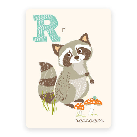 Raccoon | ABC Card