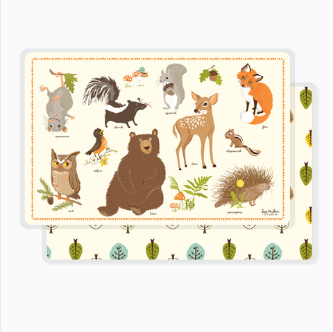 Placemat - Woodland Animals Chart