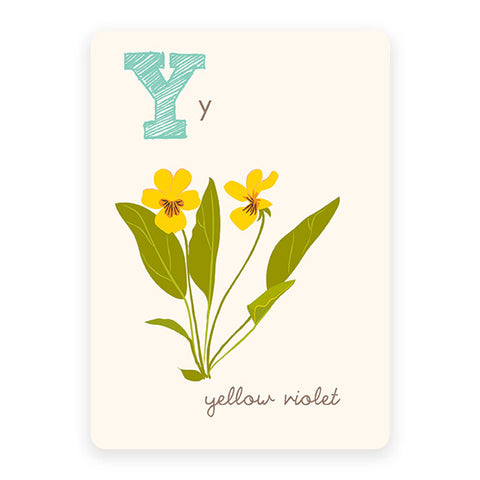 Yellow Violet | ABC Card