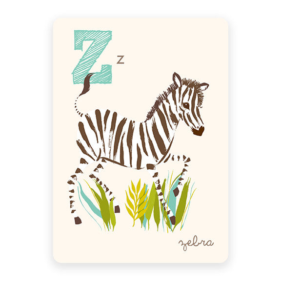 Zebra | ABC Card