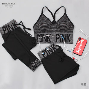 3 Piece Women Yoga Sets