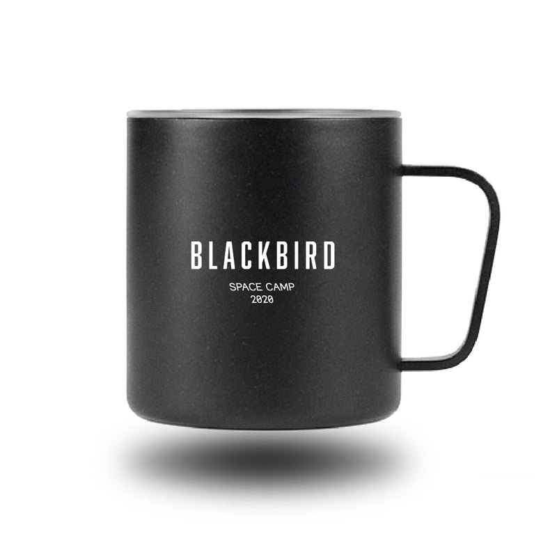 SPACE CAMP 2020 MUG - BLACK with FUZZY ALIEN FRIEND