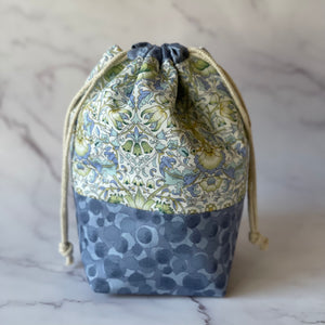 Liberty Lodden Print Drawstring Knitting Project Pouch - Small