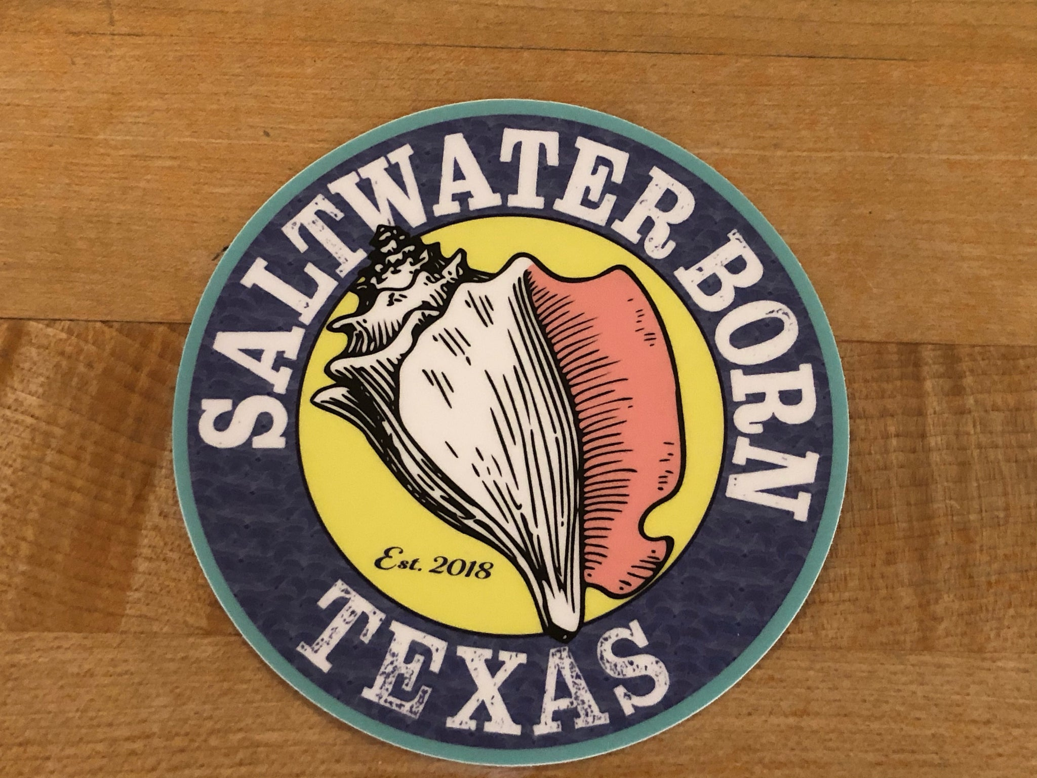 Saltwater Born Texas Sticker