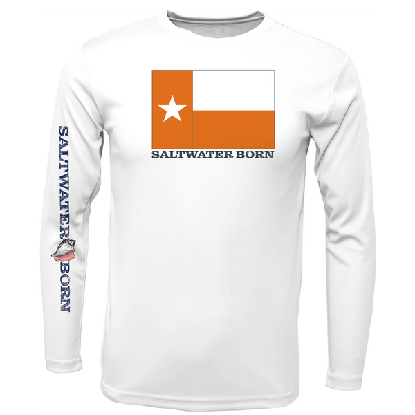 Burnt Orange Texas Long Sleeve UPF 50+ Dry-Fit Shirt