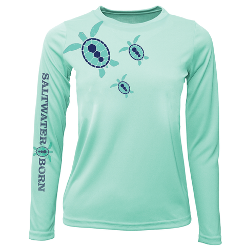 Baby Turtles Girls Long Sleeve UPF 50+ Dry-Fit Shirt