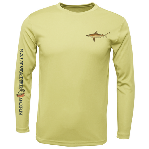 Blacktip on Chest Long Sleeve UPF 50+ Dry-Fit Shirt