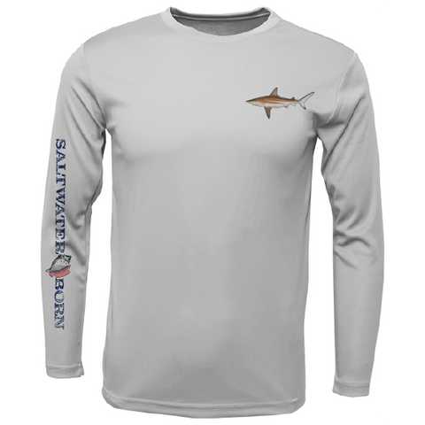 Clean Blacktip Long Sleeve UPF 50+ Dry-Fit Shirt