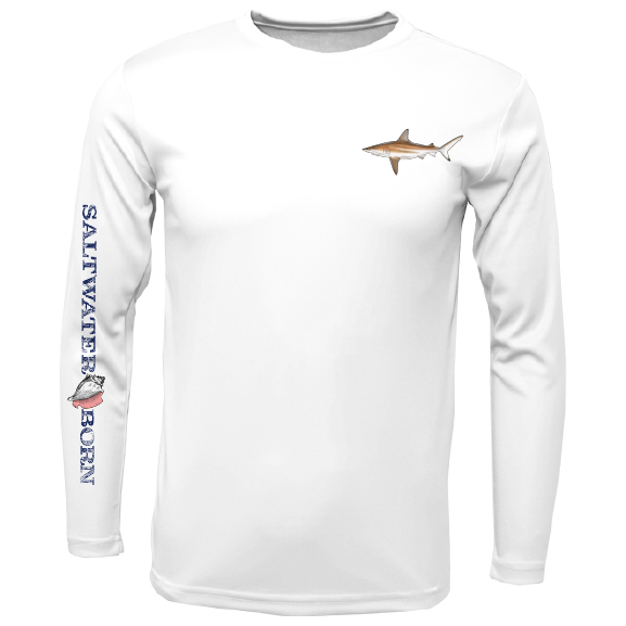 SK Blacktip on Chest Long Sleeve UPF 50+ Dry-Fit Shirt