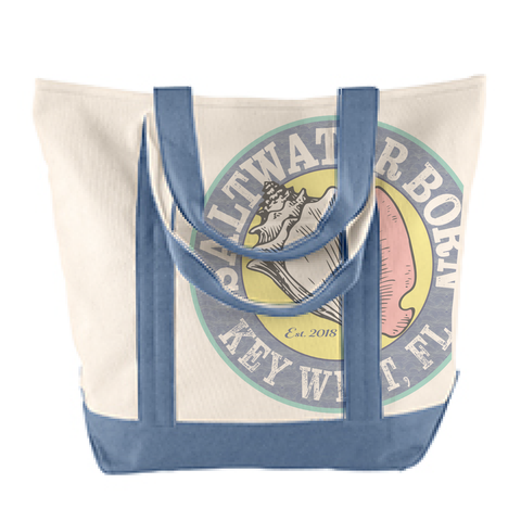 Saltwater Born Canvas Tote