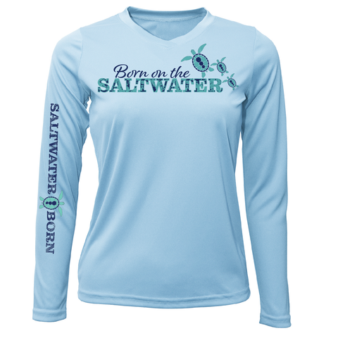 """Born On The Saltwater"" Long Sleeve UPF 50+ Dry-Fit Shirt"