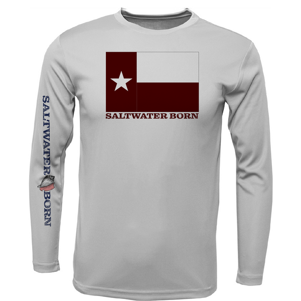 Maroon Texas Long Sleeve UPF 50+ Dry-Fit Shirt