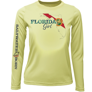 Florida Girl Girls Long Sleeve UPF 50+ Dry-Fit Shirt