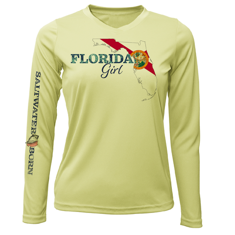 Siesta Key Florida Girl Long Sleeve UPF 50+ Dry-Fit Shirt