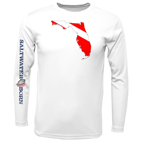 Key West Florida Diver Long Sleeve UPF 50+ Dry-Fit Shirt