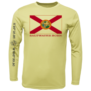 Siesta Key Florida Flag Long Sleeve UPF 50+ Dry-Fit Shirt