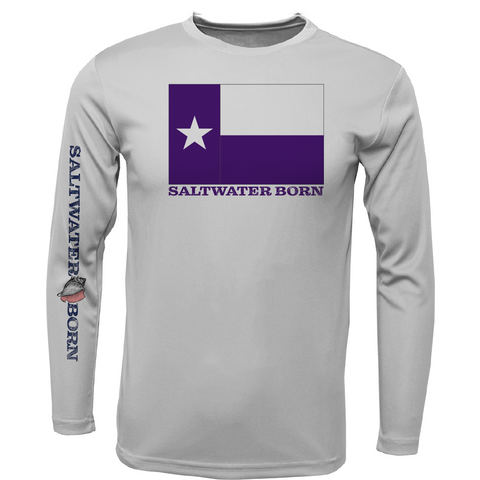 Purple Texas Long Sleeve UPF 50+ Dry-Fit Shirt