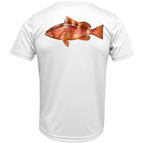 USA Grouper Short Sleeve UPF 50+ Dry-Fit Shirt