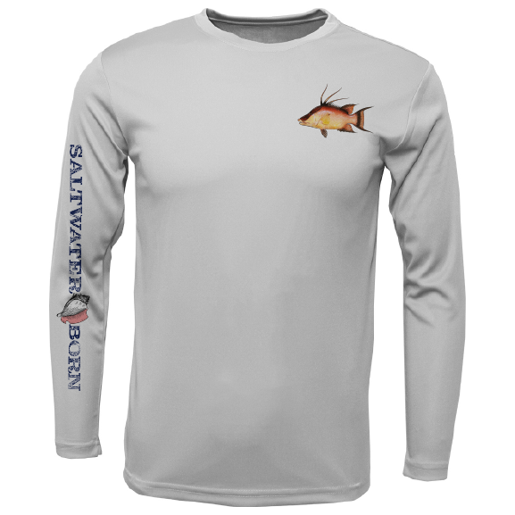 Hogfish on Chest Long Sleeve UPF 50+ Dry-Fit Shirt