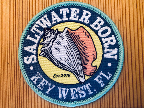 Saltwater Born Embroidered Patch