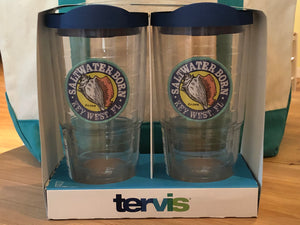 2 Pack 24oz. Saltwater Born Tervis Tumblers (Lids Included)