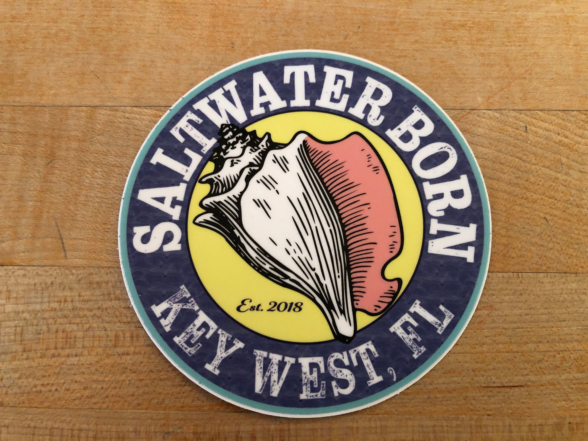 Saltwater Born Key West Sticker