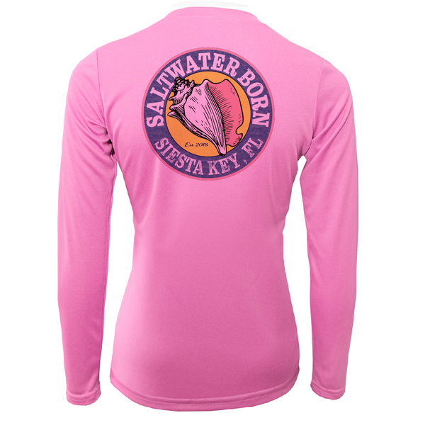 "Siesta Key ""Saltwater Hair...Don't Care"" Long Sleeve UPF 50+ Dry-Fit Shirt"