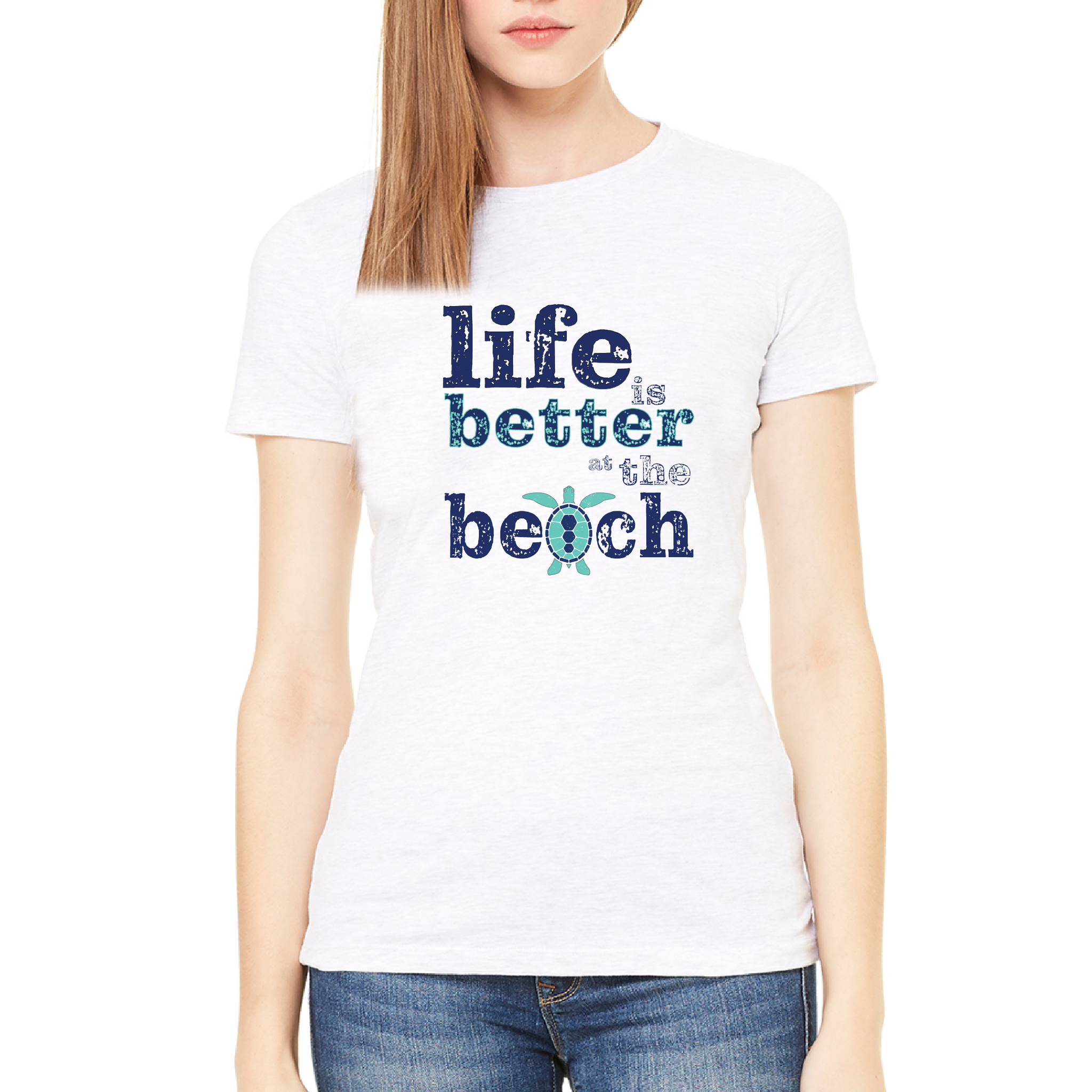 """Life Is Better At The Beach"" Turtle Tee"