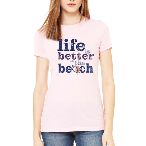 """Life Is Better At The Beach"" Conch Tee"