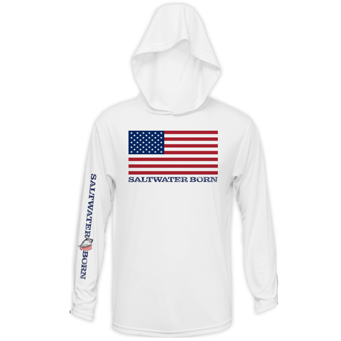American Flag Long Sleeve UPF 50+ Dry-Fit Hoody