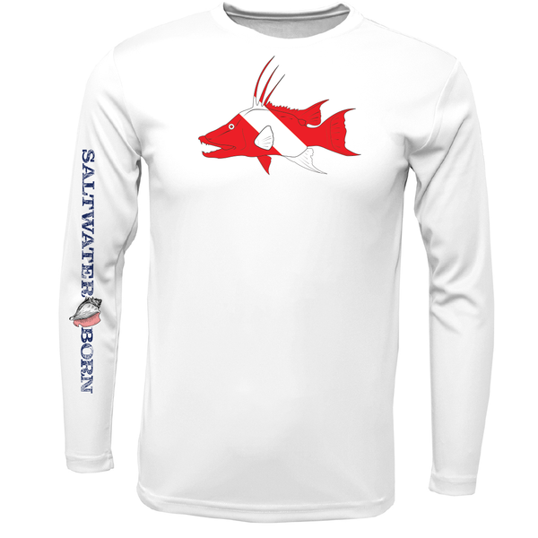 Key West Hogfish Diver Long Sleeve UPF 50+ Dry-Fit Shirt