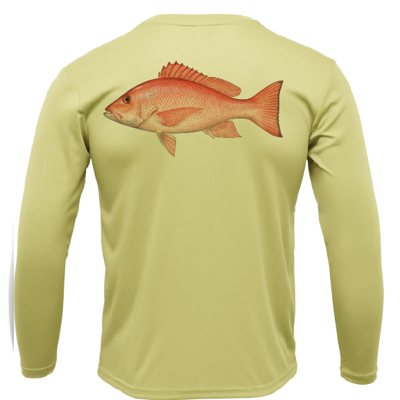 Siesta Key Snapper Long Sleeve UPF 50+ Dry-Fit Shirt