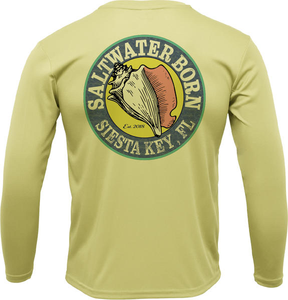 SK Bonefish on Chest Long Sleeve UPF 50+ Dry-Fit Shirt