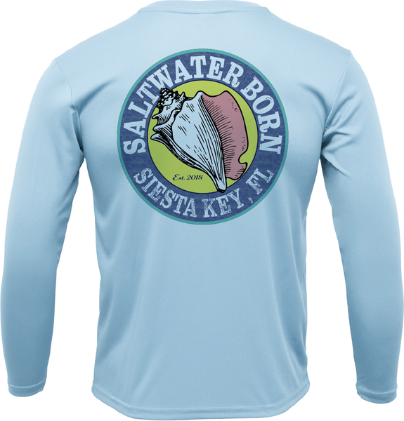 SK Trout on Chest Long Sleeve UPF 50+ Dry-Fit Shirt