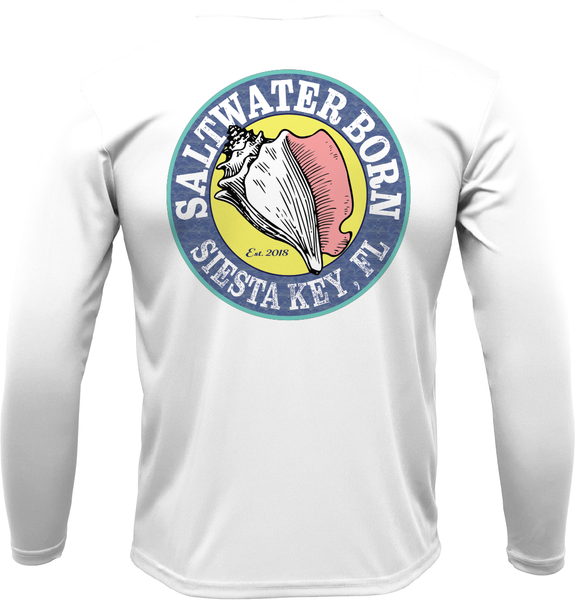 Siesta Key Florida USA Long Sleeve UPF 50+ Dry-Fit Shirt