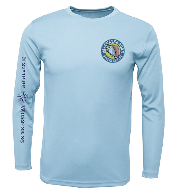 Siesta Key Blacktip Long Sleeve UPF 50+ Dry-Fit Shirt
