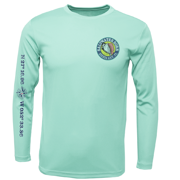 Siesta Key Saltwater Born Boys and Girls Long Sleeve UPF 50+ Dry-Fit Shirt