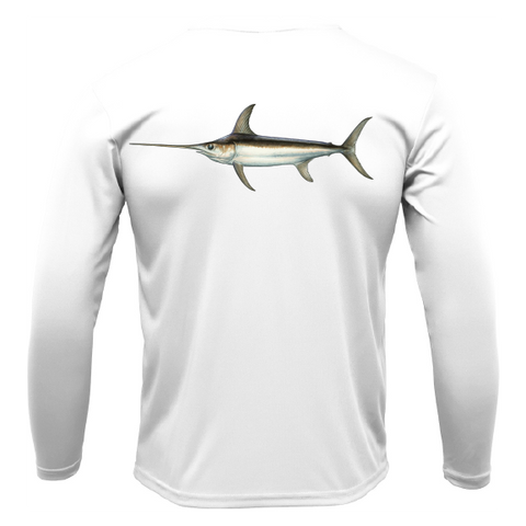 Siesta Key Swordfish Long Sleeve UPF 50+ Dry-Fit Shirt
