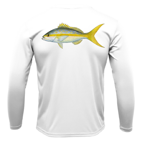 Yellowtail Long Sleeve UPF 50+ Dry-Fit Shirt