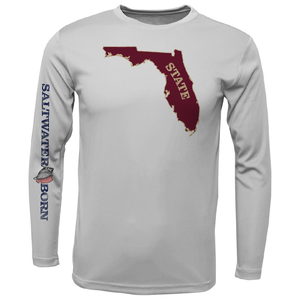 Garnet and Gold Long Sleeve UPF 50+ Dry-Fit Shirt