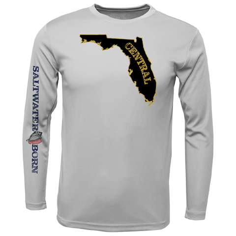 Black and Gold Long-Sleeve UPF 50+ Dry-Fit Shirt