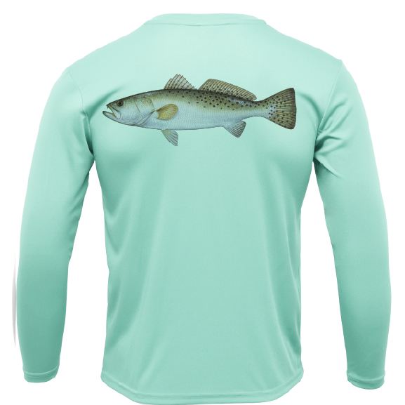 USA Trout Long Sleeve UPF 50+ Dry-Fit Shirt