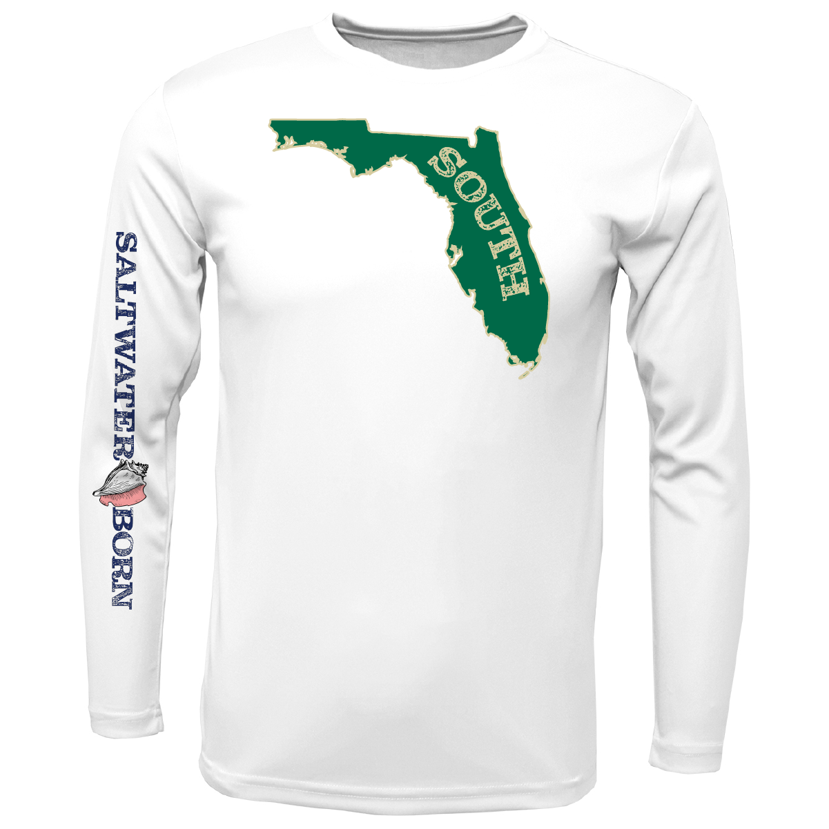 Green and Gold Long Sleeve UPF 50+ Dry-Fit Shirt