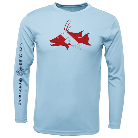 Siesta Key Hogfish Diver Long Sleeve UPF 50+ Dry-Fit Shirt