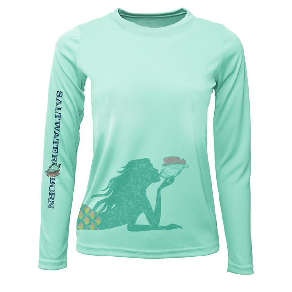 Mermaid Long Sleeve UPF 50+ Dry-Fit Shirt